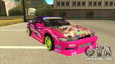 Nissan Silvia S13 Team Burst for GTA San Andreas left view