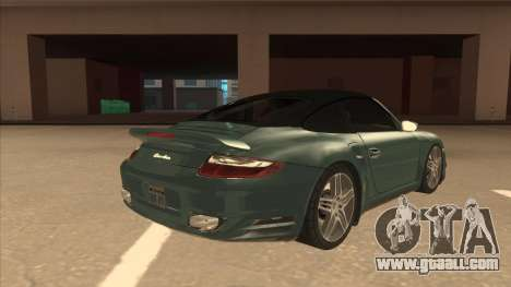 Porsche 911 Turbo Cabriolet 2008 for GTA San Andreas upper view