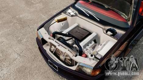 Mercedes-Benz C126 500SEC for GTA 4 back view