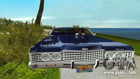Mercury Monterey 1972 for GTA Vice City back left view