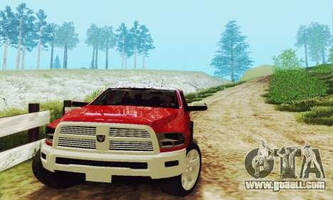 Dodge Ram 2500 HD for GTA San Andreas inner view