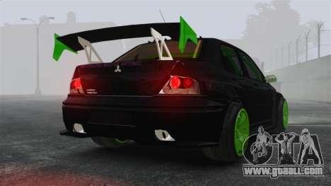 Mitsubishi Lancer Evolution VII Freestyle for GTA 4 back left view