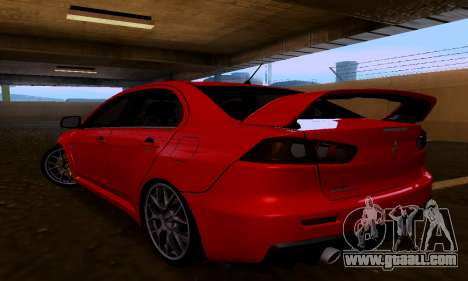 Mitsubishi Lancer Evo Drift Edition for GTA San Andreas left view