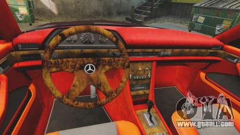 Mercedes-Benz C126 500SEC for GTA 4 inner view
