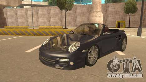 Porsche 911 Turbo Cabriolet 2008 for GTA San Andreas
