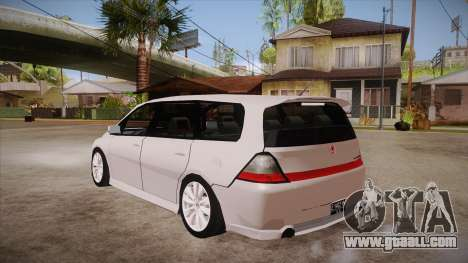 Honda Odyssey v1.5 for GTA San Andreas back left view
