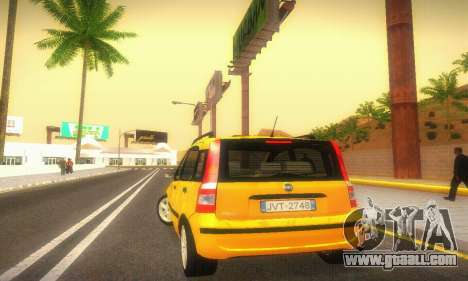 Fiat Panda Taxi for GTA San Andreas right view