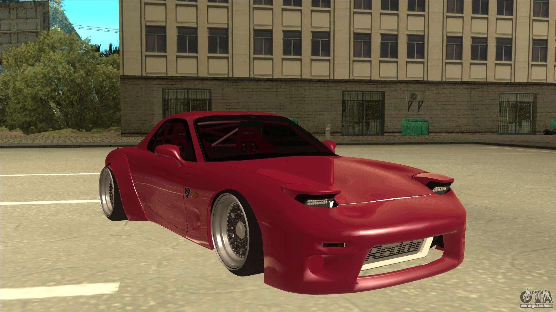 Mazda 3 Wheels >> Mazda RX7 FD3S Rocket Bunny for GTA San Andreas