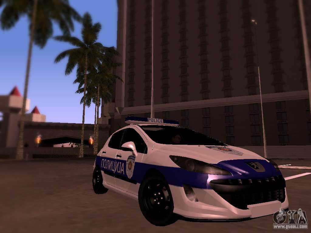 7 Passenger Vehicles >> Peugeot 308 SERBIAN PATROL for GTA San Andreas