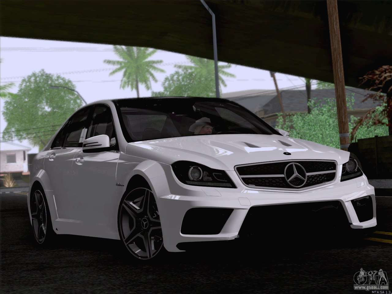 mercedes benz c 63 amg for gta san andreas. Black Bedroom Furniture Sets. Home Design Ideas