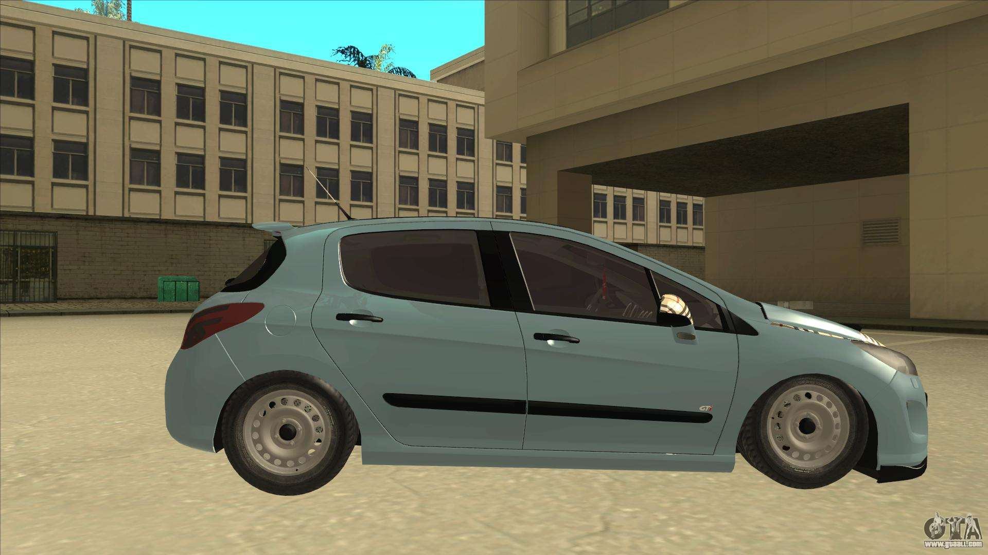 Peugeot 308 Burberry Edition for GTA San Andreas back left view