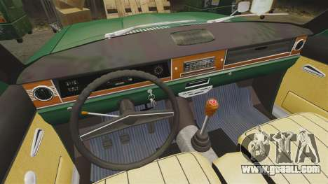 Gaz-24-02 Volga for GTA 4 inner view