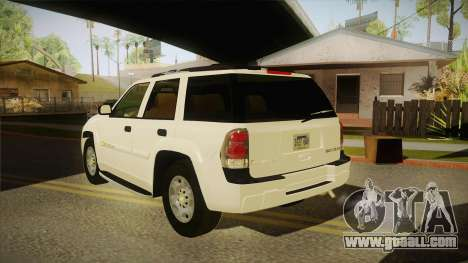 Chevrolet Trail Blazer for GTA San Andreas back left view