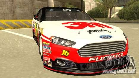 Ford Fusion NASCAR No. 16 3M Bondo for GTA San Andreas left view