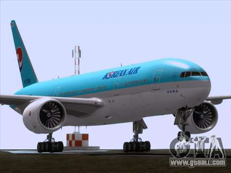 Boeing 777-2B5ER Korean Air for GTA San Andreas left view