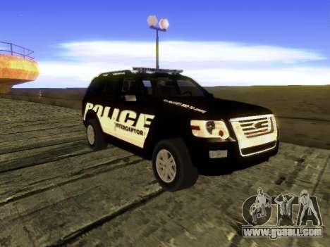 Ford Explorer 2010 Police Interceptor for GTA San Andreas