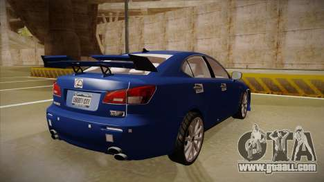 Lexus IS F V1 for GTA San Andreas right view