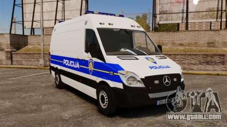 Mercedes-Benz Sprinter Croatian Police v2 [ELS] for GTA 4