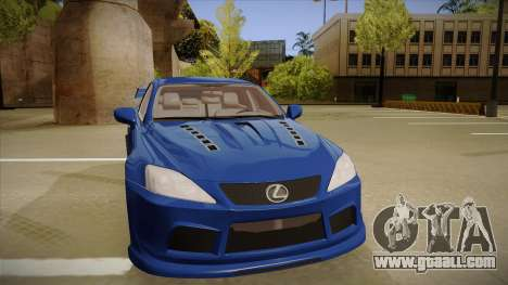 Lexus IS F V1 for GTA San Andreas left view