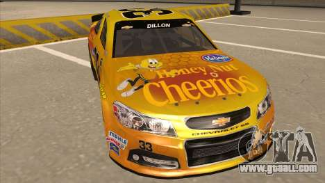 Chevrolet SS NASCAR No. 33 Cheerios for GTA San Andreas left view