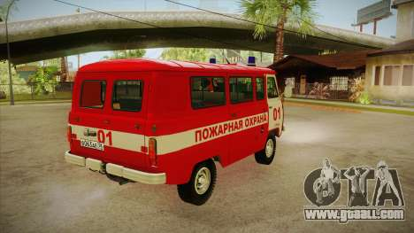 UAZ 452 Fire headquarters for GTA San Andreas right view