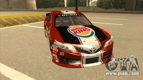 Toyota Camry NASCAR No. 83 Burger King Dr Pepper for GTA San Andreas left view