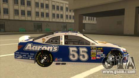 Toyota Camry NASCAR No. 55 Aarons DM blue-white for GTA San Andreas back left view
