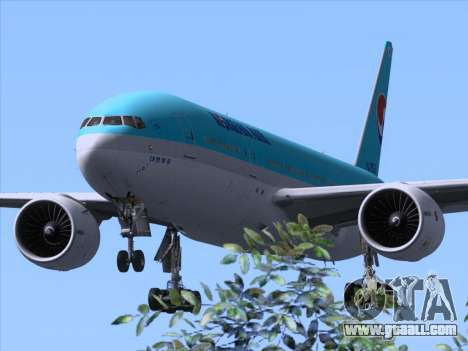 Boeing 777-2B5ER Korean Air for GTA San Andreas