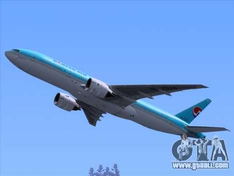 Boeing 777-2B5ER Korean Air for GTA San Andreas wheels