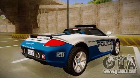 Porsche Carrera GT 2004 Police White for GTA San Andreas right view