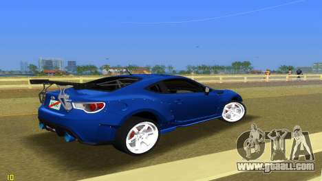 Subaru BRZ Type 5 for GTA Vice City right view
