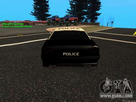 Elegy Police for GTA San Andreas right view
