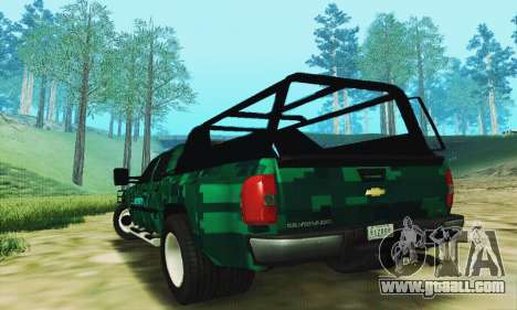 Chevrolet Silverado 3500 Military for GTA San Andreas back left view
