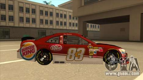 Toyota Camry NASCAR No. 83 Burger King Dr Pepper for GTA San Andreas back left view