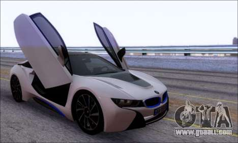 BMW I8 for GTA San Andreas inner view