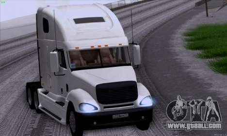 Freightliner Columbia for GTA San Andreas inner view