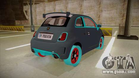 Abarth 500 Esseesse 2010 for GTA San Andreas right view