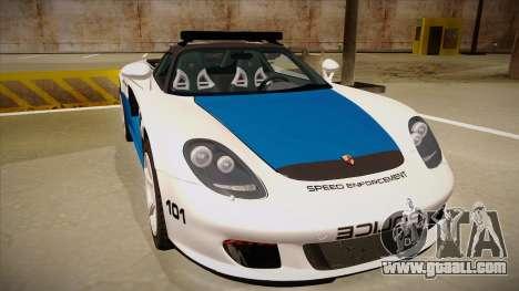 Porsche Carrera GT 2004 Police White for GTA San Andreas left view