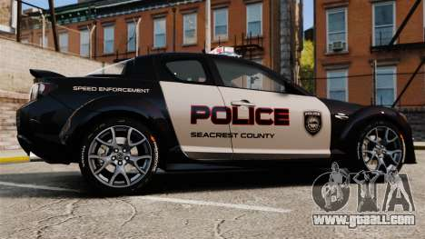 Mazda RX-8 R3 2011 Police for GTA 4 left view