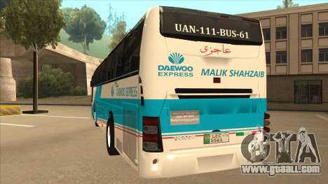 Zaibee Daewoo Express Coach for GTA San Andreas back view