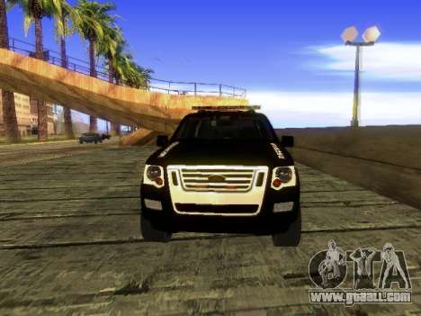 Ford Explorer 2010 Police Interceptor for GTA San Andreas left view