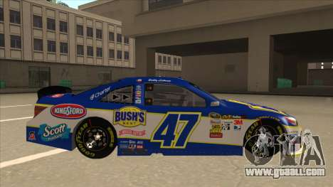 Toyota Camry NASCAR No. 47 Bushs Beans for GTA San Andreas back left view