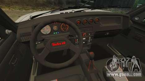 Peugeot 205 Turbo 16 for GTA 4 inner view