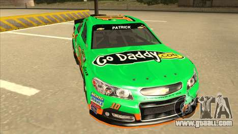 Chevrolet SS NASCAR No. 10 Go Daddy for GTA San Andreas left view