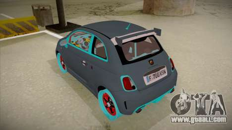 Abarth 500 Esseesse 2010 for GTA San Andreas back view