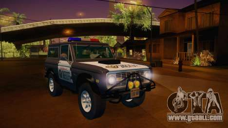 Ford Bronco 1966 Sheriff for GTA San Andreas right view