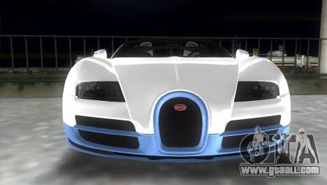 Bugatti Veyron Grand Sport Vitesse for GTA Vice City back view
