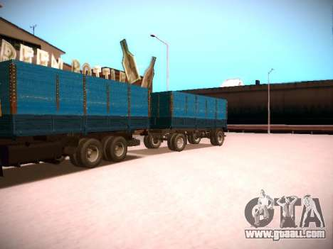 Trailer Kamaz 5320 for GTA San Andreas back left view