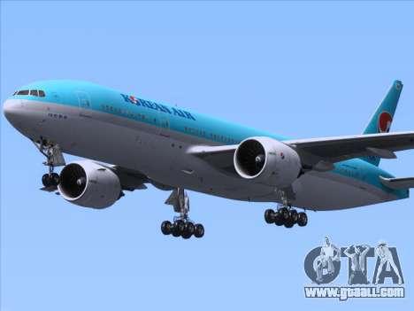 Boeing 777-2B5ER Korean Air for GTA San Andreas inner view
