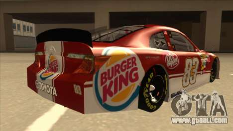Toyota Camry NASCAR No. 83 Burger King Dr Pepper for GTA San Andreas right view
